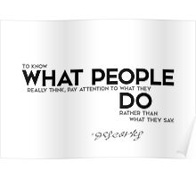 what people do - descartes Poster