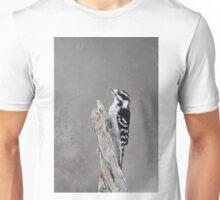WinterTime - Downy Woodpecker Unisex T-Shirt