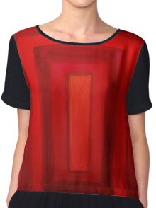 red square Chiffon Top