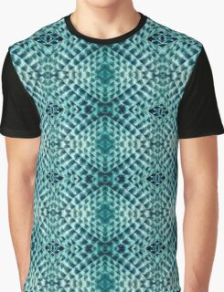 Aztec Graphic Teal Lizard Reptile Skin Pattern Graphic T-Shirt