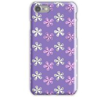 Pink and white flowers iPhone Case/Skin