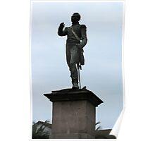 Statue in Quito Poster