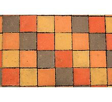 Colorful Sidewalk Paving Blocks Photographic Print