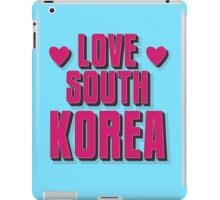 LOVE SOUTH KOREA iPad Case/Skin