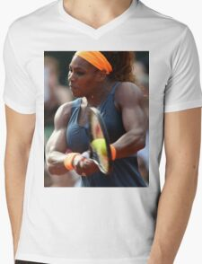 Serena Williams Mens V-Neck T-Shirt