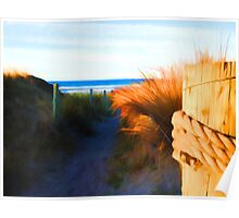 Beach View from the Right Poster