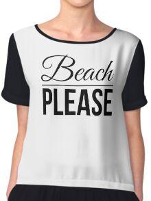 Beach Please Summer Design girly fashion women Chiffon Top
