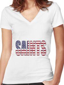 Saints Women's Fitted V-Neck T-Shirt