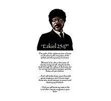 Samuel Jackson - Ezekiel Speech Pulp Fiction Photographic Print