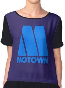 MOTOWN DISCO RECORDS (BLUE) Chiffon Top