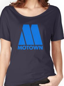 MOTOWN DISCO RECORDS (BLUE) Women's Relaxed Fit T-Shirt