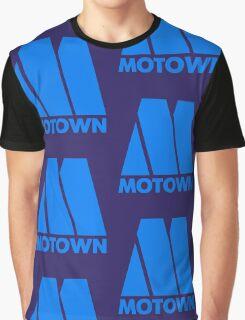 MOTOWN DISCO RECORDS (BLUE) Graphic T-Shirt