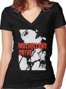 MULHOLLAND DRIVE - DAVID LYNCH Women's Fitted V-Neck T-Shirt