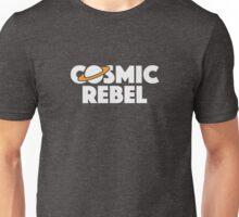 Cosmic Rebel Logo - Stacked White Unisex T-Shirt