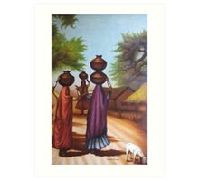 Indian village ladies Art Print