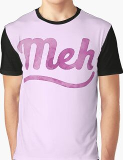 MEH in pink watercolor Graphic T-Shirt