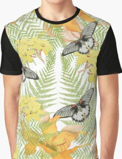Tropical Butterfly Graphic T-Shirt