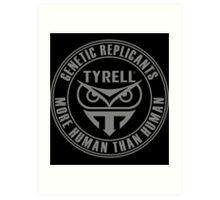 TYRELL CORPORATION - BLADE RUNNER (GREY) Art Print