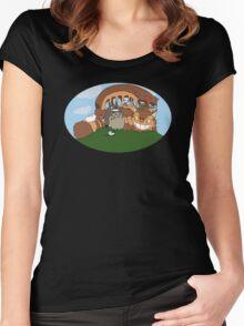 Catbus, Totoro & Neko Atsume! Women's Fitted Scoop T-Shirt