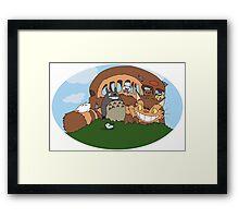 Catbus, Totoro & Neko Atsume! Framed Print