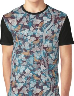 Birds in Blue Graphic T-Shirt