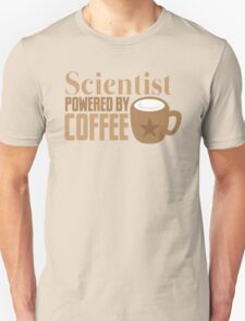 Scientist powered by coffee Unisex T-Shirt