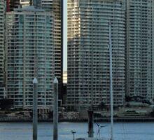 Brisbane River and apartments Sticker