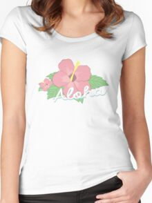 Aloha Design by Shan Women's Fitted Scoop T-Shirt