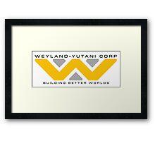 Weyland-Yutani (black font) Framed Print