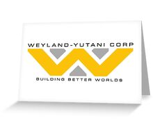 Weyland-Yutani (black font) Greeting Card