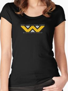 Weyland-Yutani (white font) Women's Fitted Scoop T-Shirt