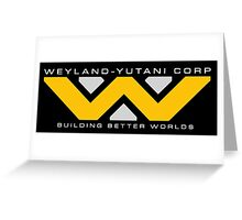 Weyland-Yutani (white font) Greeting Card