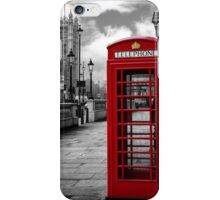 London: Red Phone Booth iPhone Case/Skin