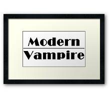 Modern Vampire  Framed Print