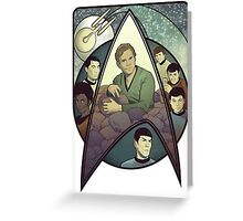 Star Trek Art Nouveau Greeting Card