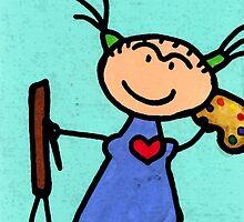 Happi Arti 4 - Frida Kahlo Artist by Sharon Cummings