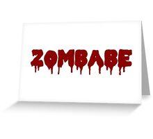Zombabe Greeting Card