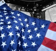 ISS American Flag Sticker