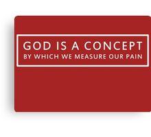 God is a Concept - John Lennon (white) Canvas Print