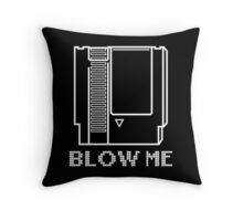 Blow Me (Video Game Cartridge) Throw Pillow
