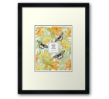 Tropical Butterfly Quotation Print Framed Print