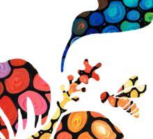 Hummingbirds - Perfect Harmony - Nature's Sharing Art Sticker