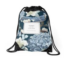 Dreaming on the Riverbank Quotation Print Drawstring Bag