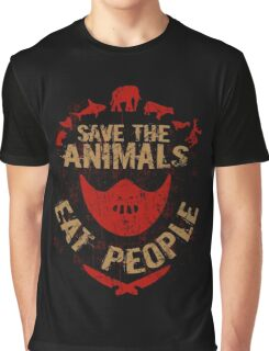 save the animals, EAT PEOPLE Graphic T-Shirt