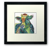 Comfort cow Framed Print
