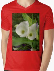 White Calla Lily II Mens V-Neck T-Shirt
