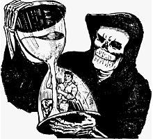 Grim Reaper Sand Clock Illustration Photographic Print