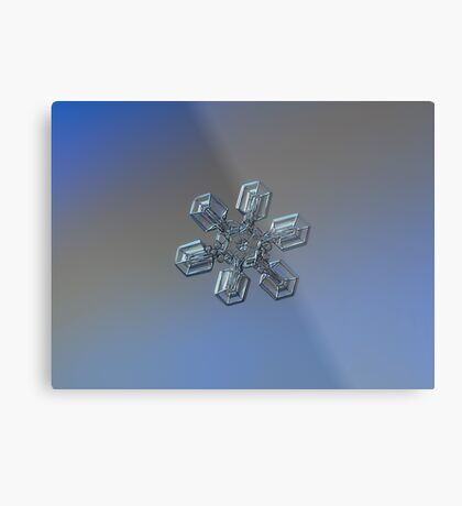 Snowflake photo - High voltage Metal Print
