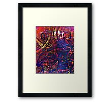 Figured Abstract Art by Laura L. Leatherwood Framed Print