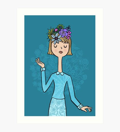 Blue Belle Art Print